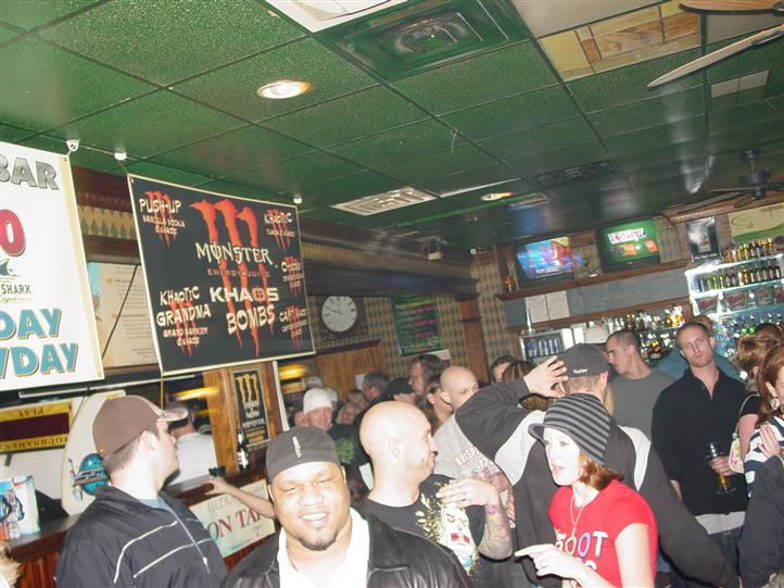 crowded bar area