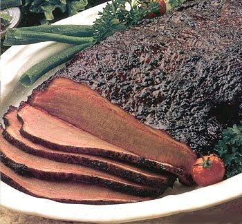 Plate of sliced brisket