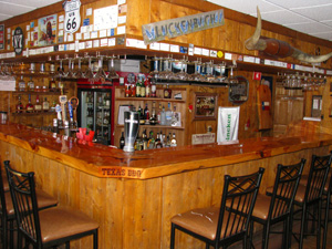 Texas barbecue bar counter and chairs