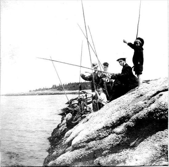 Group of Men Fishing