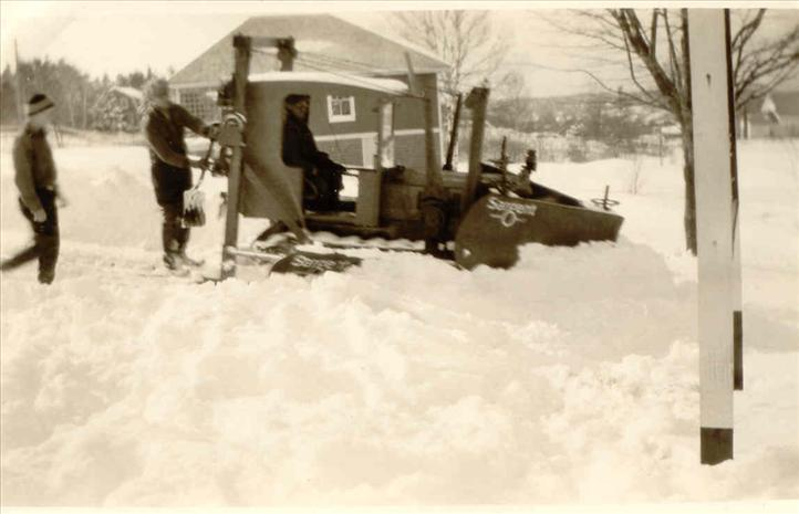 Town Crew in a Snow Plow