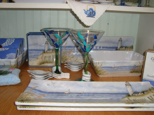 Martini Glasses and Plates for Sale