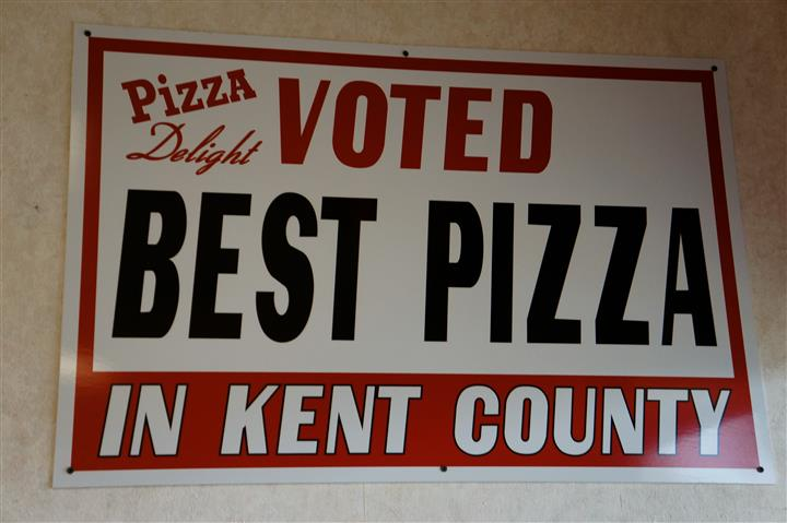 """Pizza Delight Voted Best Pizza In Kent County"""