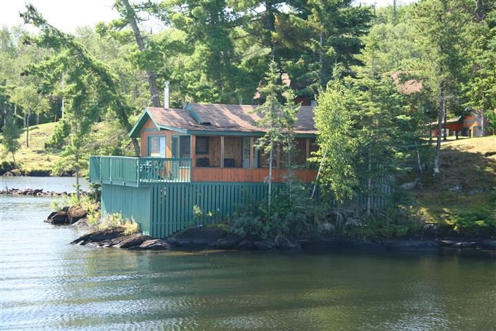 cabin over looking the lake