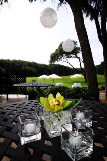 outdoor set up overlooking the golf course.