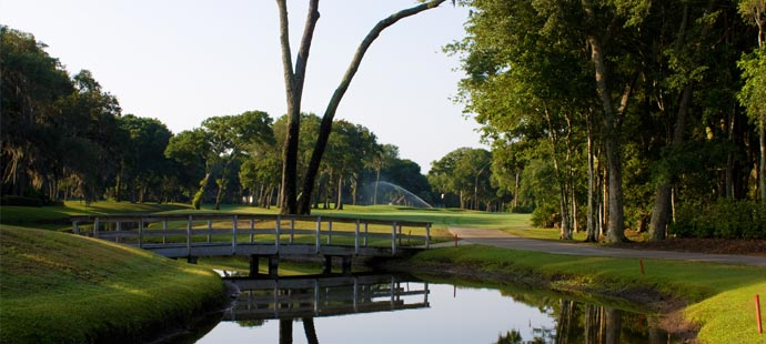 picture of bridge on the golf course