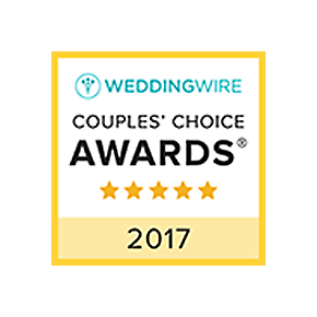 Wedding Wire Couples choice awards 2017. Five stars.
