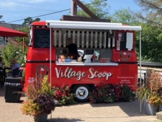 village scoop food truck getting ready to sell to the public
