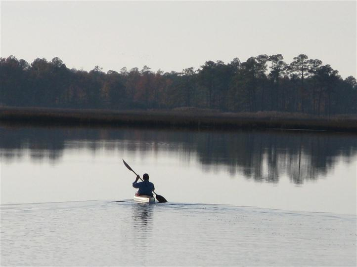 Person Kayaking