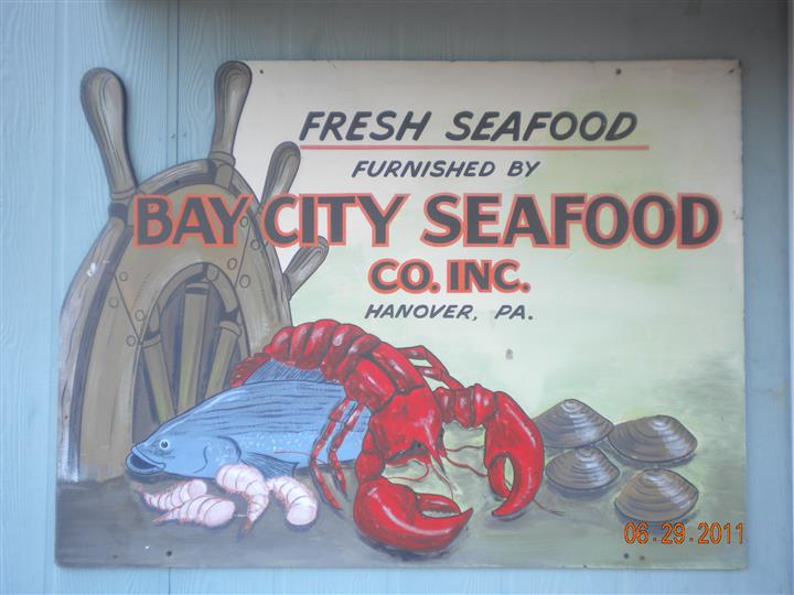 fresh seafood furnished by bay seafood co. inc. hanover, pa