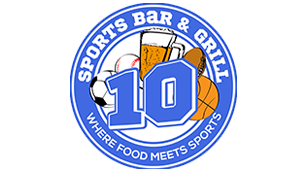 10 Sports bar and grill. Where food meets sports.