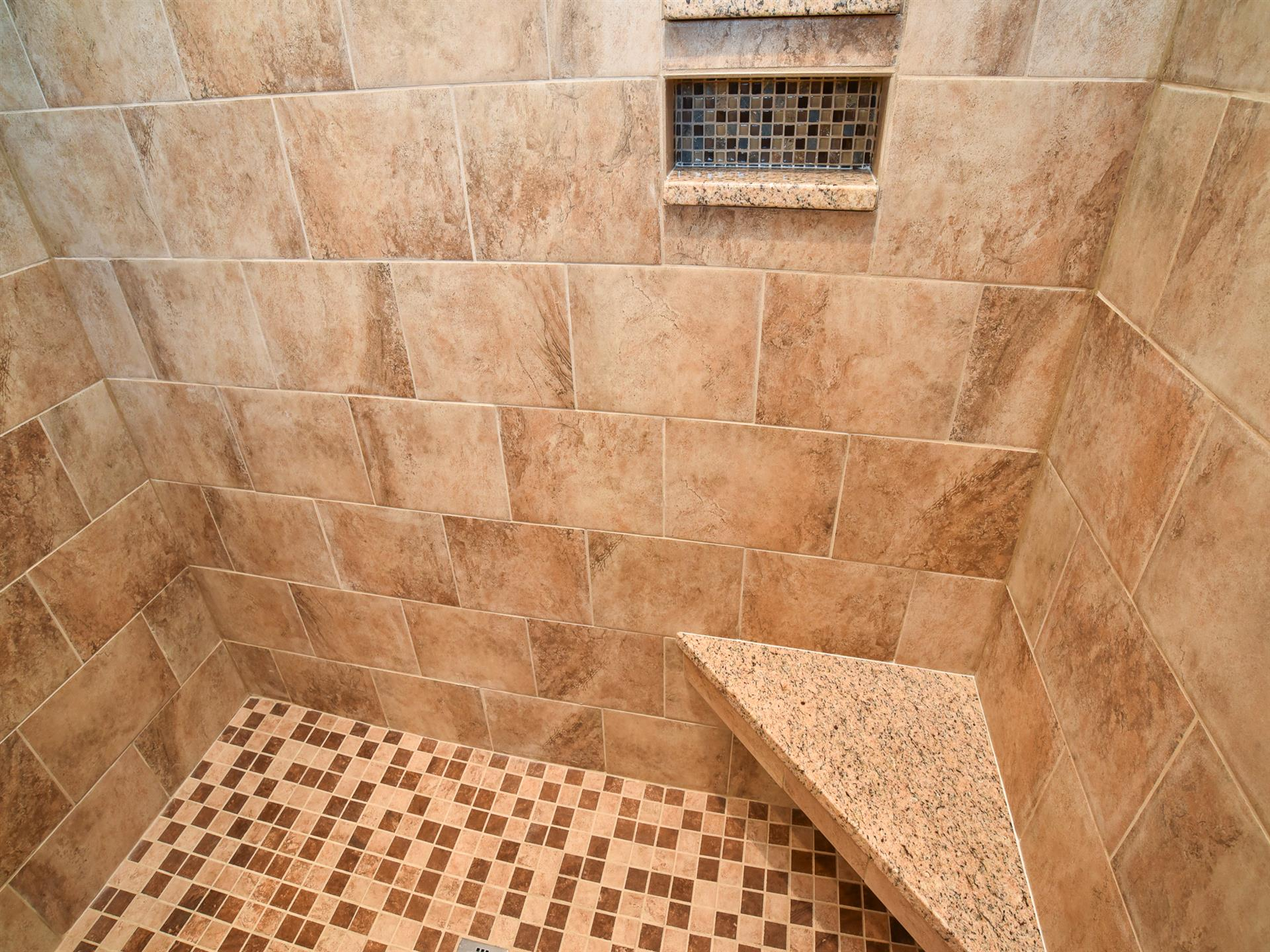 floor of the inside of the shower
