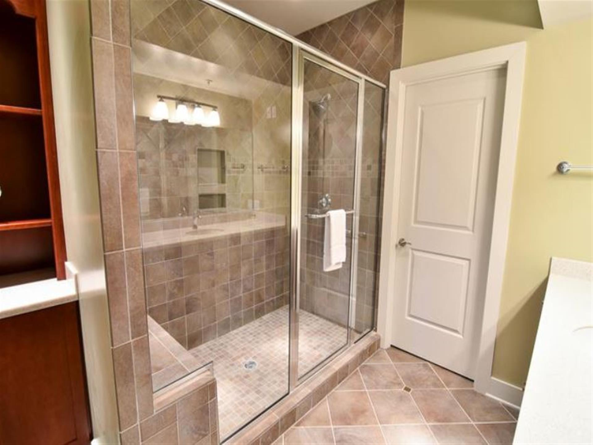 Bathroom with Shower , View of glass door