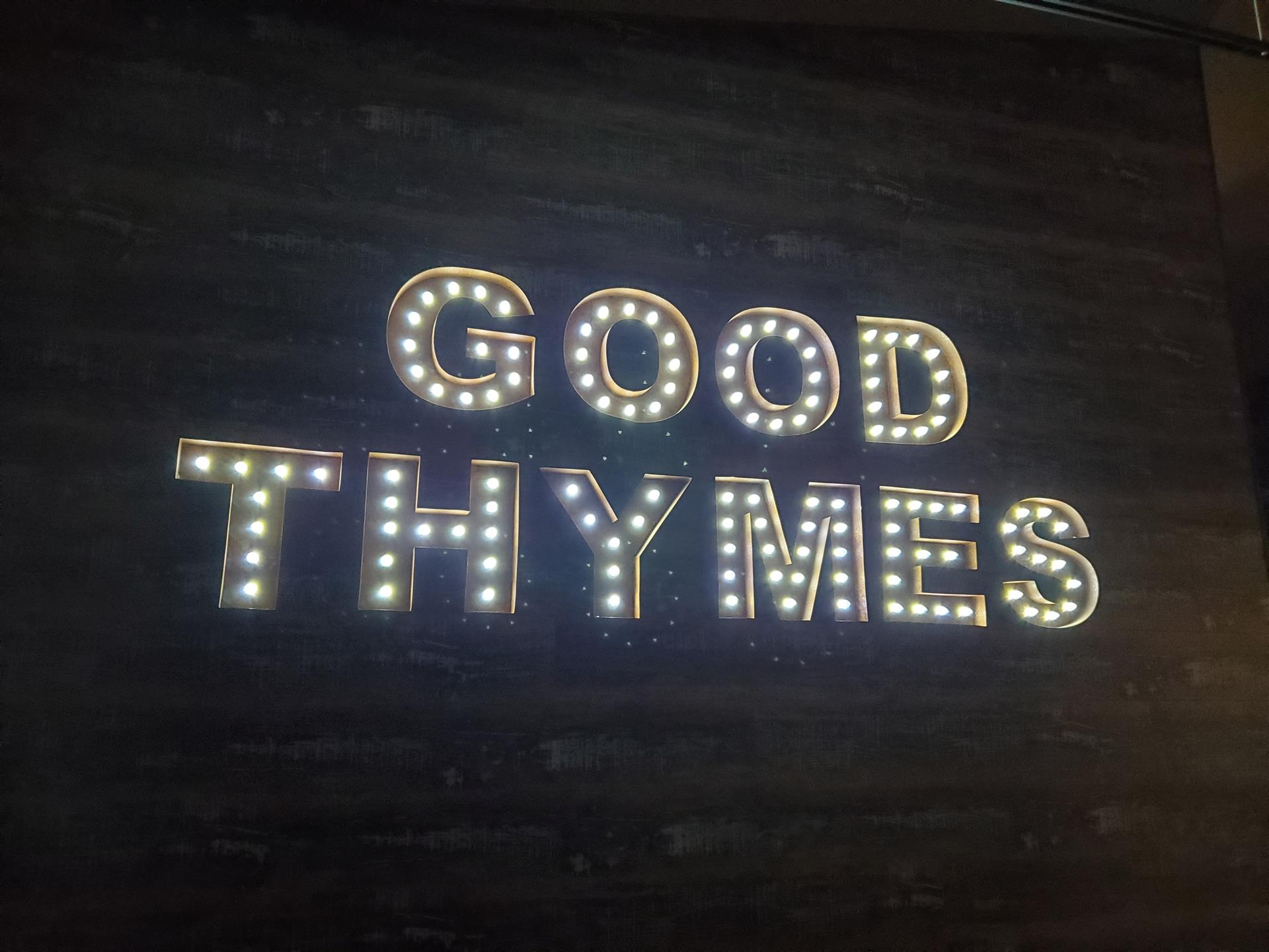 Good Thymes lighted sign