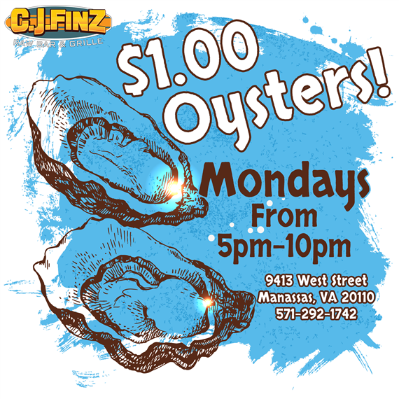 $1 Oysters on Mondays from 5pm to 10pm.