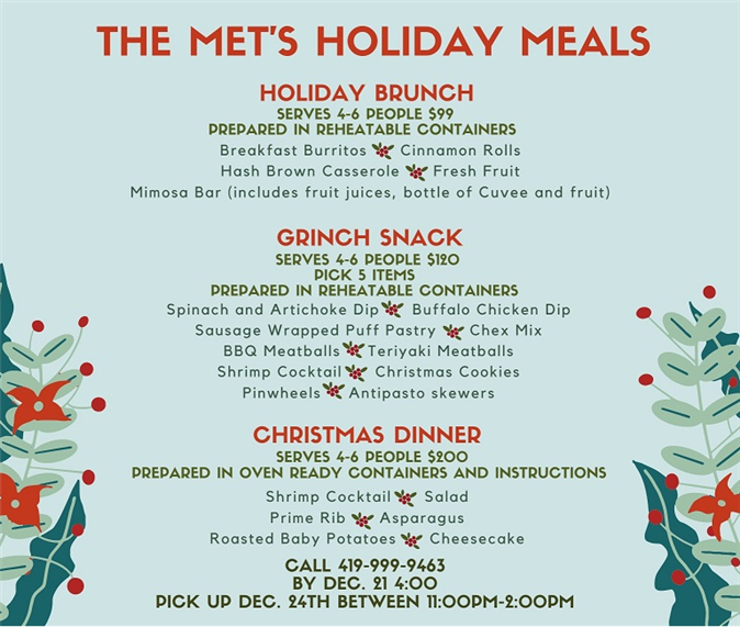 Holiday Dinner Options