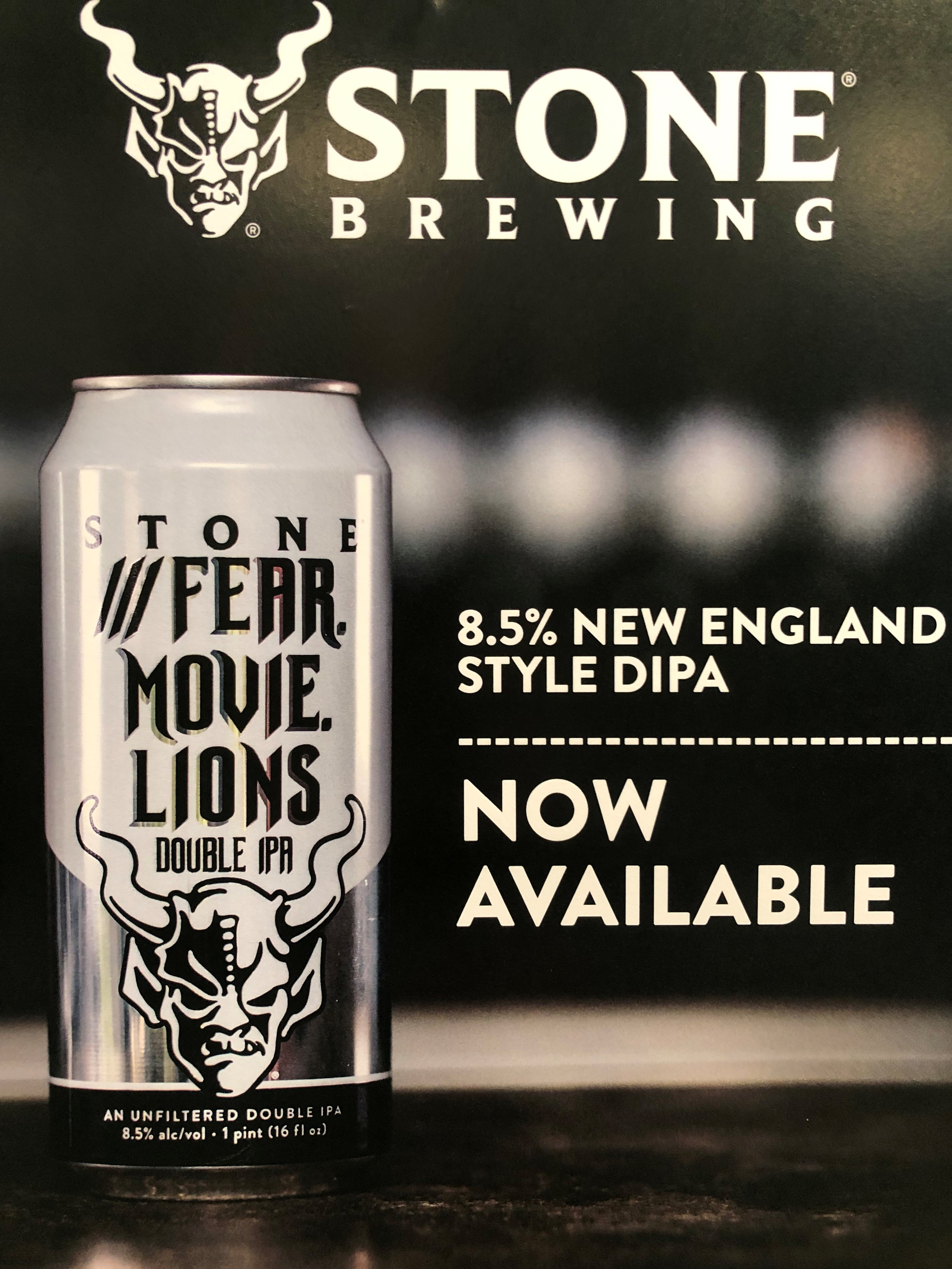 stone brewing. 8.5% new england style dipa now available