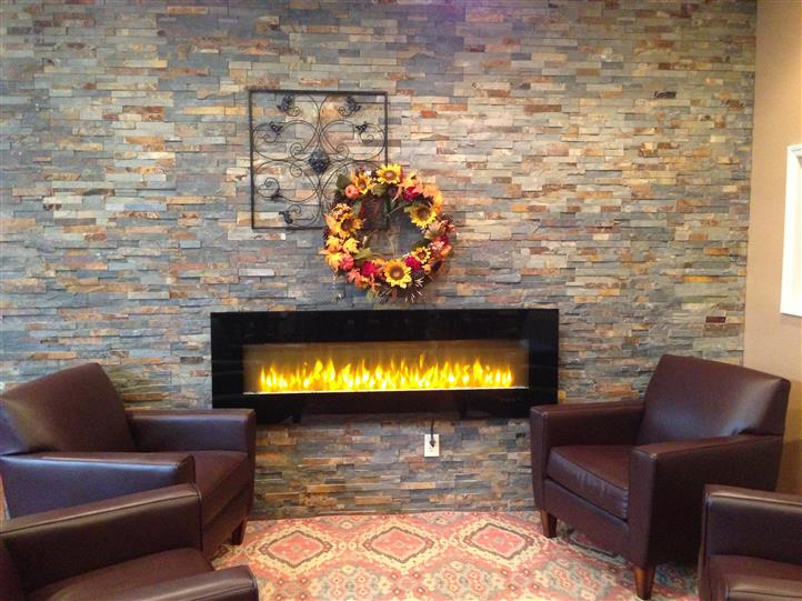 Fire Place with sofas