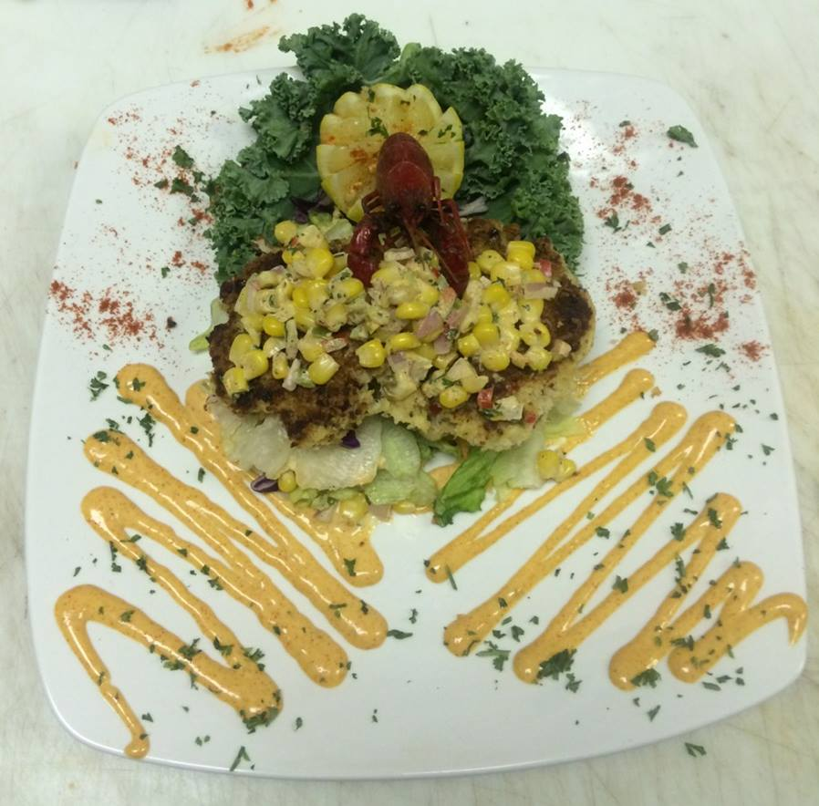 surf and turf entree with vegetables