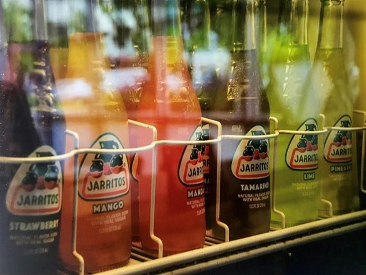 bottles of assorted jarritos soda