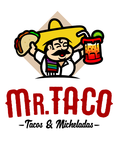 mr.taco- tacos and micheladas logo