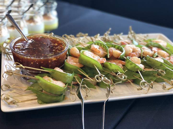 Shrimp and Snow Pea Skewers