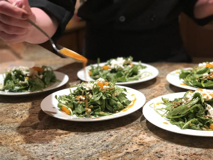 Spinach Salad - Plated