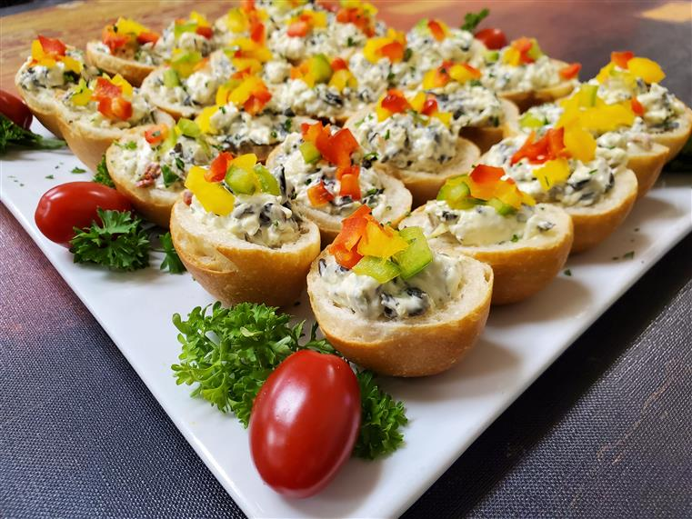 assortment of appetizers on a plate