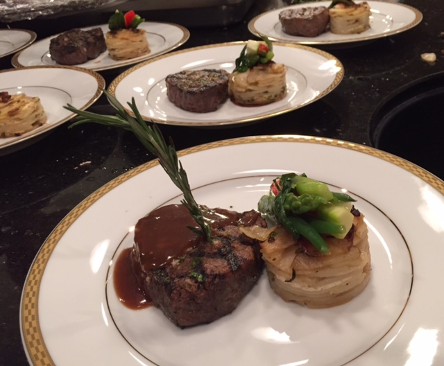 plated entree's on a table