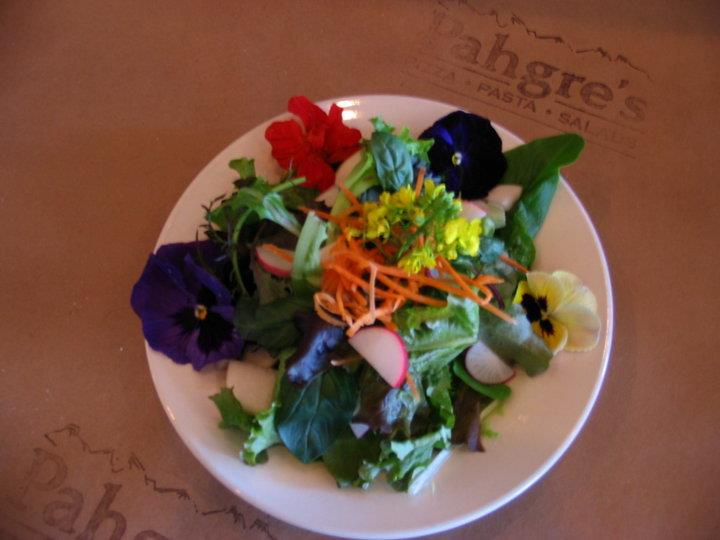 Aesthetically crafted salad with flowers