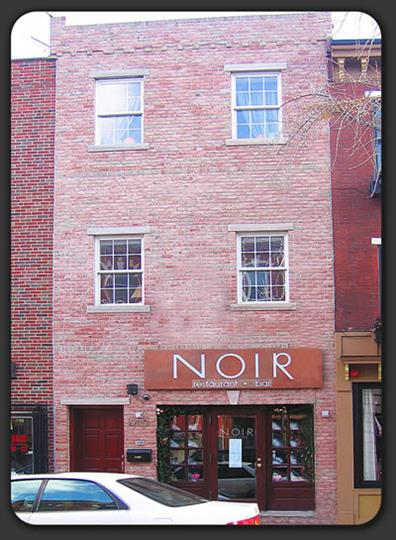 store front of noir restaurant and bar