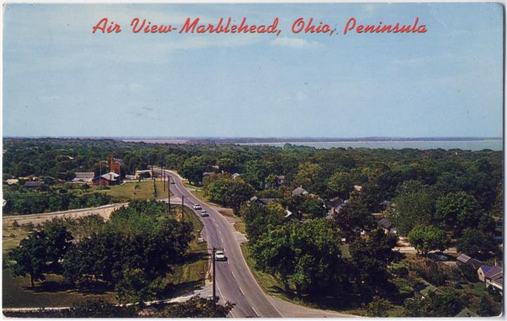 air view of marblehead, ohio