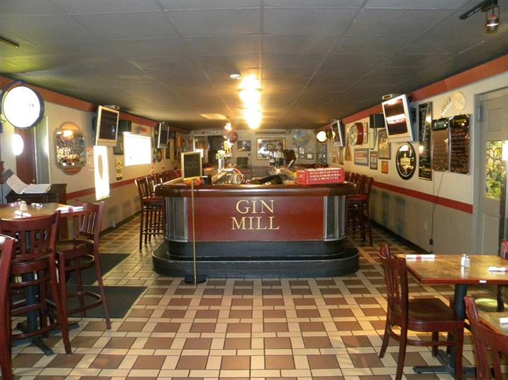 Gin Mill desk bar area