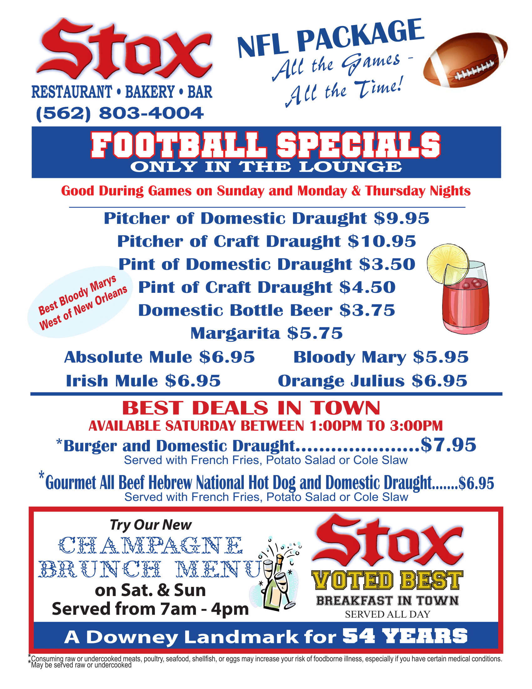 Stox Football Specials. Click image to view readable PDF.
