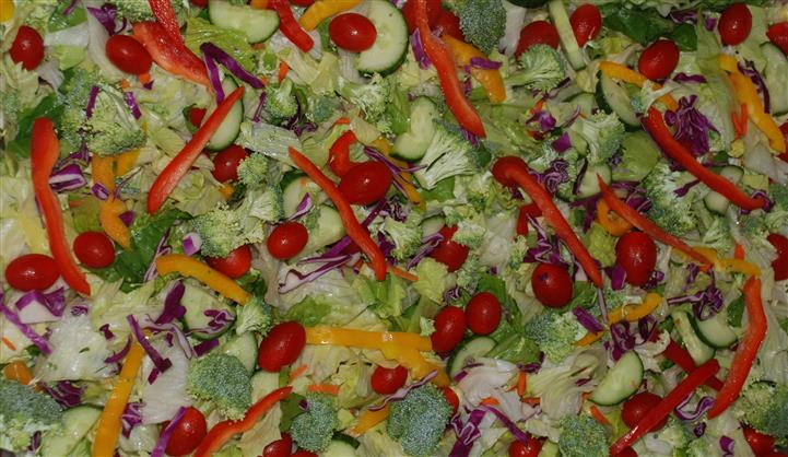 Salad with a variety of vegetables