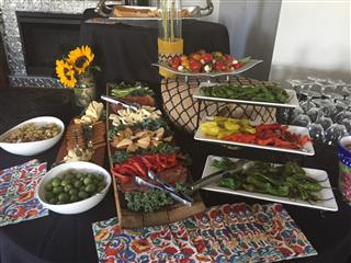 table with appetizers