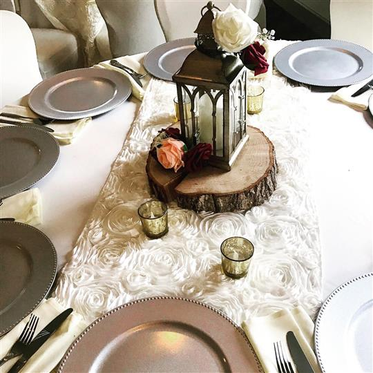 table set with plates and utensils