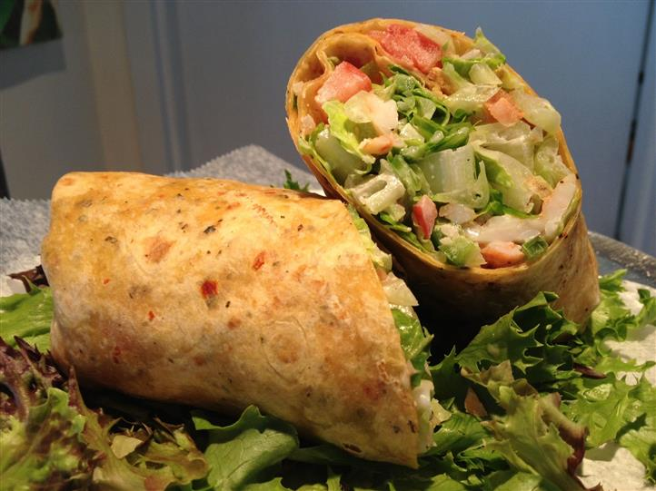 Wrap with Vegetables, cheese, and meat
