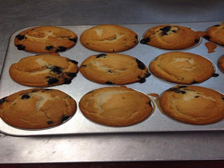 fresh baked cookies on a cooking tray