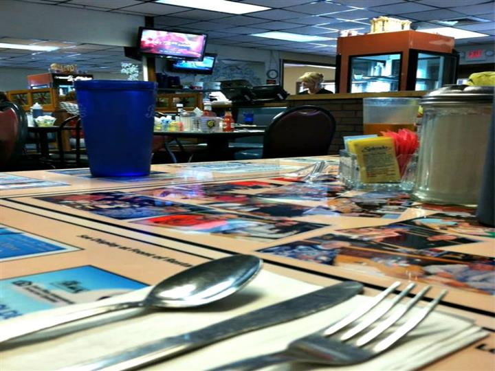 interior shot of restaurant from booth
