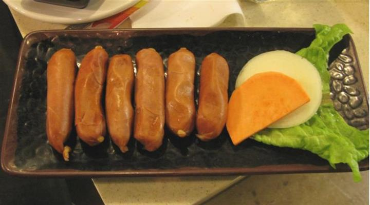 cooked sausage on a plate