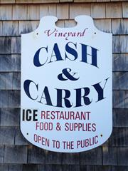 vineyard cash & carry sign