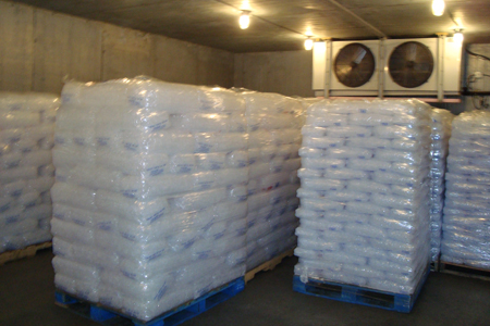 bags of ice for delivery in cooler