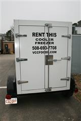 back of mobile cold storage trailer