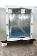 inside of mobile cold storage trailer