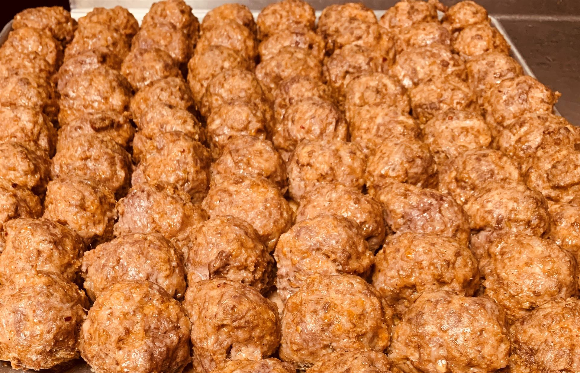 Assortment of Meatballs on a tray