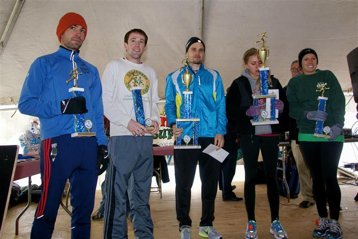 Marathon winners taking a group photo