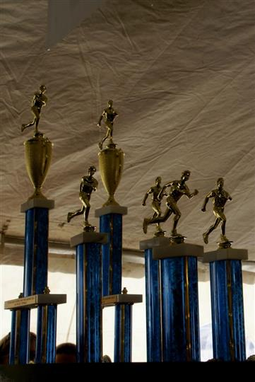 Polar bear run marathon trophies