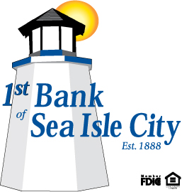 1st bank of sea isle city. established 1888. Member FDIC. Equal housing lender.