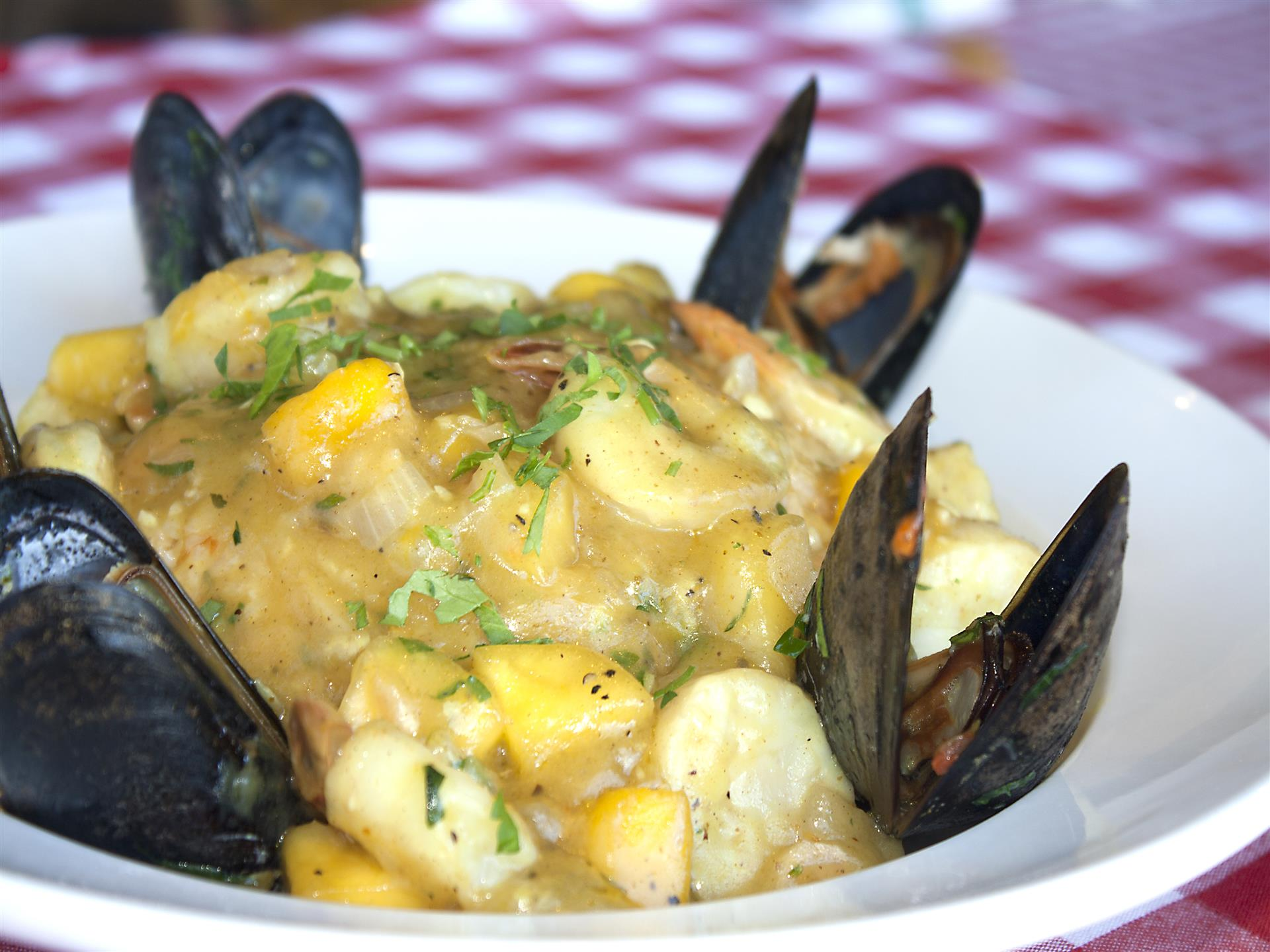 Seafood dish with mussels